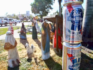 The Brietbart Butthurt Over One Blogger's Beer Can Festivus Pole