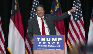 Pat McCrory at the WInston-Salem Trump rally
