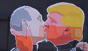 Trump is accused of colluding with Putin including benefiting from Russian hackers.